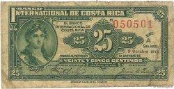 25 Centimos COSTA RICA  1916 P.156a B