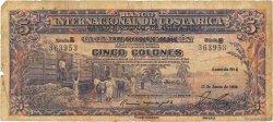 5 Colones COSTA RICA  1938 P.198b B
