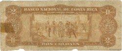 2 Colones COSTA RICA  1941 P.201a AB