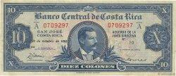 10 Colones COSTA RICA  1952 P.221a pr.TTB