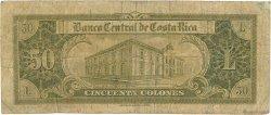 50 Colones COSTA RICA  1960 P.223b B