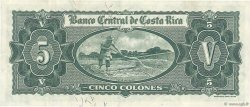 5 Colones COSTA RICA  1961 P.227 TTB