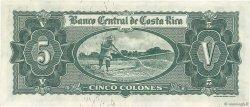 5 Colones COSTA RICA  1962 P.227 SUP+