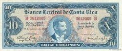 10 Colones COSTA RICA  1967 P.229 TTB
