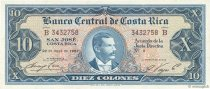 10 Colones COSTA RICA  1967 P.229 SPL