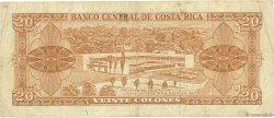 20 Colones COSTA RICA  1968 P.231a TB