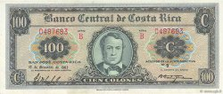 100 Colones COSTA RICA  1962 P.233a SUP