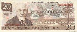 20 Colones COSTA RICA  1983 P.238c SPL