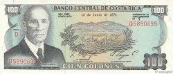 100 Colones COSTA RICA  1974 P.240a NEUF