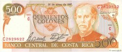 500 Colones COSTA RICA  1987 P.255 NEUF
