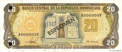 20 Pesos Oro RÉPUBLIQUE DOMINICAINE  1981 P.120s1 NEUF