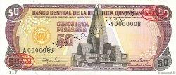 50 Pesos Oro RÉPUBLIQUE DOMINICAINE  1985 P.121s2 NEUF