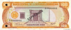 100 Pesos Oro RÉPUBLIQUE DOMINICAINE  1982 P.125As1 NEUF