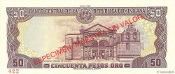 50 Pesos Oro RÉPUBLIQUE DOMINICAINE  1990 P.127s NEUF