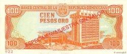 100 Pesos Oro RÉPUBLIQUE DOMINICAINE  1988 P.128s1 NEUF