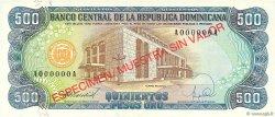 500 Pesos Oro RÉPUBLIQUE DOMINICAINE  1988 P.129s NEUF