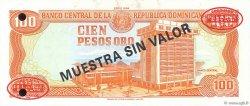 100 Pesos Oro RÉPUBLIQUE DOMINICAINE  1994 P.136s2 NEUF