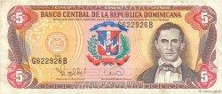5 Pesos Oro RÉPUBLIQUE DOMINICAINE  1996 P.152a TTB