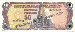 50 Pesos Oro RÉPUBLIQUE DOMINICAINE  1997 P.155s1 NEUF