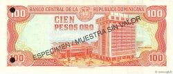 100 Pesos Oro RÉPUBLIQUE DOMINICAINE  1998 P.156s2 NEUF