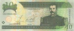 10 Pesos Oro RÉPUBLIQUE DOMINICAINE  2002 P.168b NEUF