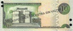 10 Pesos Oro RÉPUBLIQUE DOMINICAINE  2002 P.168s2 NEUF