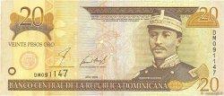 20 Pesos Oro RÉPUBLIQUE DOMINICAINE  2001 P.169a TTB