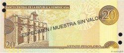 20 Pesos Oro RÉPUBLIQUE DOMINICAINE  2001 P.169s1 NEUF