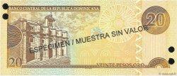 20 Pesos Oro RÉPUBLIQUE DOMINICAINE  2002 P.169s1