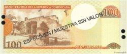 100 Pesos Oro RÉPUBLIQUE DOMINICAINE  2001 P.171s1 NEUF