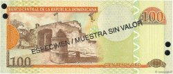 100 Pesos Oro RÉPUBLIQUE DOMINICAINE  2002 P.171s2 NEUF