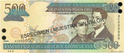 500 Pesos Oro RÉPUBLIQUE DOMINICAINE  2002 P.172s1 pr.NEUF
