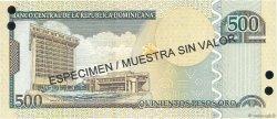 500 Pesos Oro RÉPUBLIQUE DOMINICAINE  2004 P.172s3 NEUF