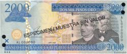 2000 Pesos Oro RÉPUBLIQUE DOMINICAINE  2003 P.174s2 NEUF