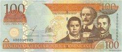 100 Pesos Oro RÉPUBLIQUE DOMINICAINE  2002 P.175a NEUF