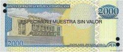 2000 Pesos Oro RÉPUBLIQUE DOMINICAINE  2006 P.181s1 NEUF