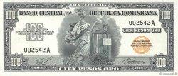 100 Pesos Oro RÉPUBLIQUE DOMINICAINE  1959 P.084 NEUF