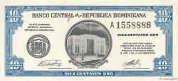 10 Centavos Oro RÉPUBLIQUE DOMINICAINE  1961 P.085a SPL