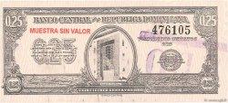 25 Centavos Oro RÉPUBLIQUE DOMINICAINE  1961 P.088s NEUF