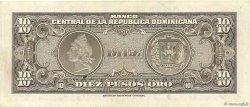 10 Peso Oro RÉPUBLIQUE DOMINICAINE  1962 P.093a TTB