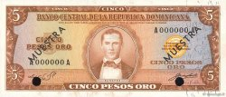 5 Pesos Oro RÉPUBLIQUE DOMINICAINE  1964 P.100s1 NEUF