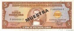 5 Pesos Oro RÉPUBLIQUE DOMINICAINE  1964 P.100s4 NEUF