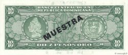 10 Pesos Oro RÉPUBLIQUE DOMINICAINE  1964 P.101s1 pr.NEUF