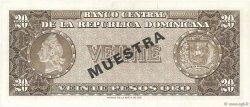 20 Pesos Oro RÉPUBLIQUE DOMINICAINE  1964 P.102s2 NEUF