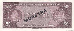 50 Pesos Oro RÉPUBLIQUE DOMINICAINE  1964 P.103s1 pr.NEUF
