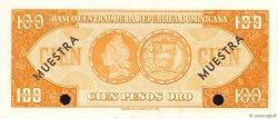 100 Pesos Oro RÉPUBLIQUE DOMINICAINE  1964 P.104s2 pr.NEUF