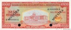1000 Pesos Oro RÉPUBLIQUE DOMINICAINE  1964 P.106s2 aUNC