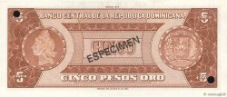 5 Pesos Oro RÉPUBLIQUE DOMINICAINE  1976 P.109s NEUF