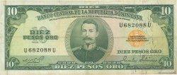 10 Pesos Oro RÉPUBLIQUE DOMINICAINE  1975 P.110a TB