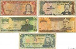 Lot de 5 billets République Dominicaine RÉPUBLIQUE DOMINICAINE  1970 P.var B